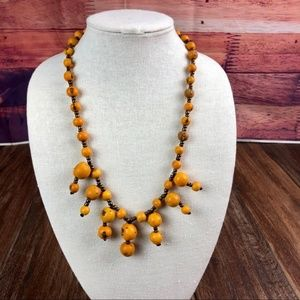 Marigold Açaí Chandelier Necklace